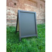 Меловой штендер двухсторонний (60х100см). Цвет рамы чёрный